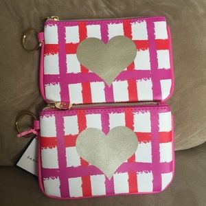 NWT Valentines Day Heart Coin Purse Bundle Lot